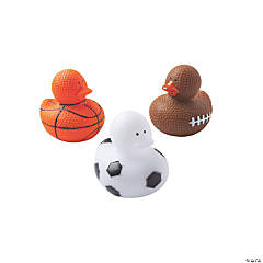 Sports Ball Rubber Duckies