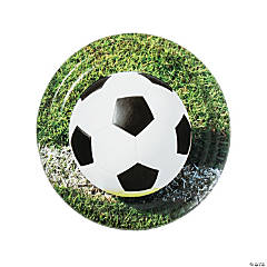 Sports Fanatic Soccer Dinner Plates