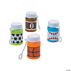 Sports Mini Bubble Bottles