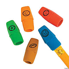 Sports Printed Pencil Top Erasers