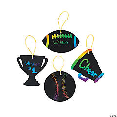Sports VBS Magic Color Scratch Ornaments
