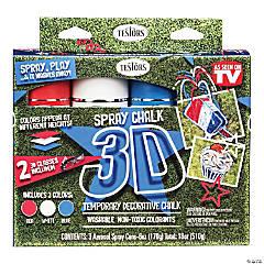 Spray Chalk Kit 4/Pkg-3D Patriotic