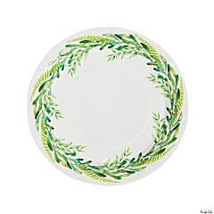 Spring Greenery Paper Dinner Plates