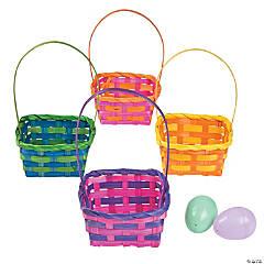 Square Bamboo Multicolor Baskets