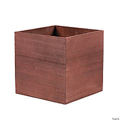 Square Stained Wood Flower Box