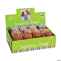 Squishy Dog Puffer Toys