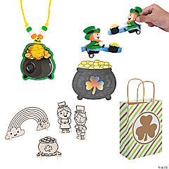 St. Patrick's Craft Cheer Bags Kit for 12