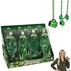 St. Patrick's Day Beaded Shamrock & Shot Glass Necklaces