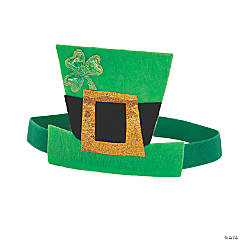 St. Patrick's Day Elastic Back Top Hat