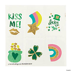 St. Patrick's Day Foil Temporary Tattoos