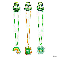 St. Patrick's Day Fun Icon Beaded Necklaces