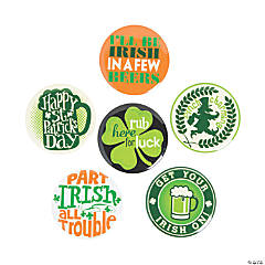 St. Patrick's Day Fun Sayings Buttons