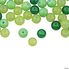 St. Patrick's Day Green Bead Assortment - 8mm