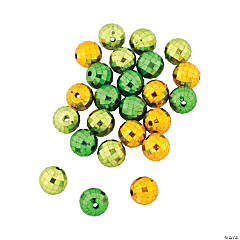 St. Patrick's Day Green Disco Beads
