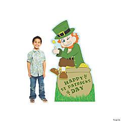 St. Patrick's Day Leprechaun Cartoon Cardboard Stand-Up