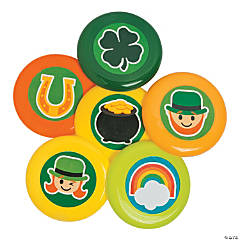St. Patrick's Day Mini Flying Discs