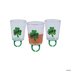 St. Patrick's Day Ring Shot Glasses