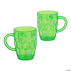 St. Patrick's Day Shamrock Plastic Beer Mugs