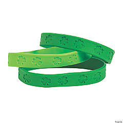St. Patrick's Day Shamrock Rubber Bracelets