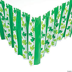 St. Patrick's Day Shamrock Table Skirt