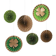 St. Patrick's Print Hanging Paper Fan Decorations