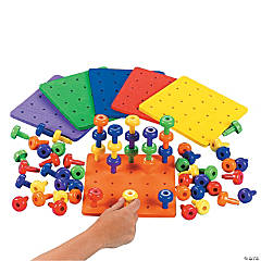 Stack It High! Pegs And Peg Boards