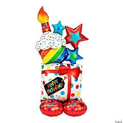 Stacked Birthday Icons Mylar Balloon