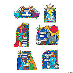 Stained Glass Nativity Small Cutouts