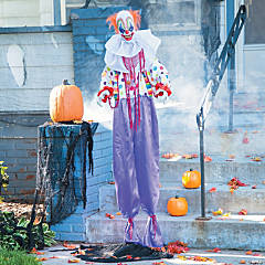 Standing Animated Clown Halloween Decoration
