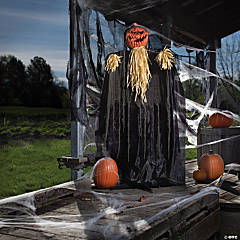 Standing Shaking Pumpkin Reaper Halloween Decoration