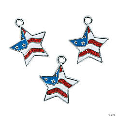 Star Flag Enamel Charms
