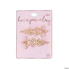 Star Hair Clips on Card