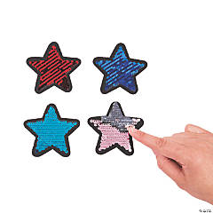 Star Reversible Sequin Patches