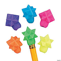 Star-Shaped Eraser Pencil Toppers