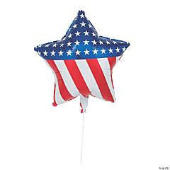 Star-Shaped Patriotic Mylar Balloons