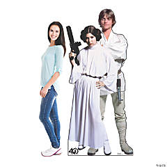 Star Wars™ 40th Anniversary Edition Luke & Leia Stand-Up