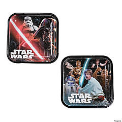 Star Wars™ Classic Square Paper Dessert Plates