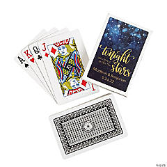 Starry Night Wedding Playing Cards with Personalized Box