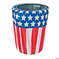 Stars & Stripes Plastic Trash Can Cover