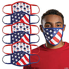 Stars & Stripes Washable Face Masks - 6 Pc.