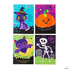Sticker by Number Halloween Cards