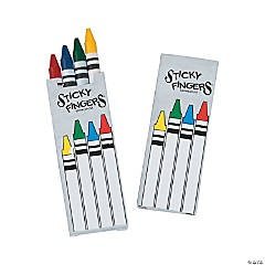 Sticky Fingers 4-Color Crayons - 12 Boxes