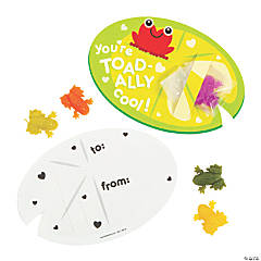 Sticky Frogs with Valentine's Day Card