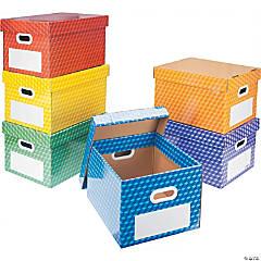 Storex Laminated Corrugated File Tote, Set of 6