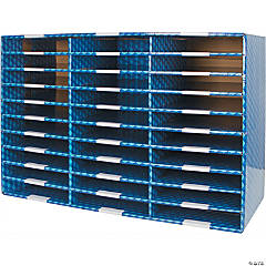 Storex Laminated Corrugated Mailroom Sorter - 30 Compartments