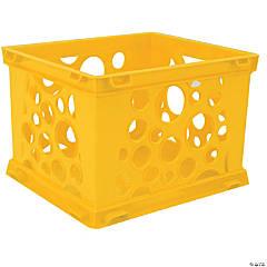 Storex Micro Crate - Yellow, Set of 12