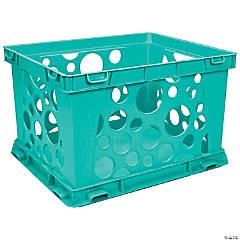 """Storex Mini Crate, Teal, 9"""" x 7.75"""" x 6"""", Set of 6"""