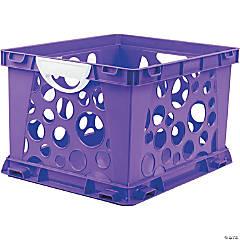 Storex Premium File Crate with Handles, Classroom Purple
