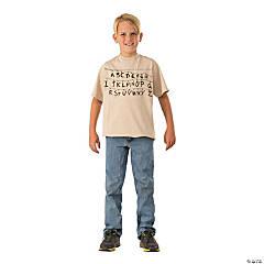 Stranger Things Childrens Alphabet Shirt L
