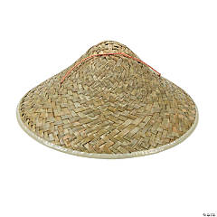 Straw Conical Hats for Adults